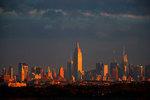 New York skyline at dawn