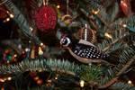 Downy woodpecker Christmas ornament