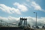 Manhattan bridge and clouds