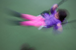 Child on swings motion impression