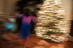 Christmas tree and children's play abstraction