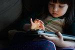 Child using I pad