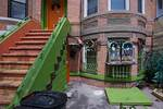 Brightly colored row house
