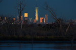 FreedomTower and City from Jamaica Bay at night