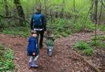 Hiking nature trail with kids