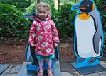 Child and penguin likeness at Central Park zoo
