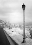Infrared of lamp post, cloudy day