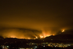 Station Fire, La Canada CA, Aug 28, 2009 San Gabriel Mountains night with JPL