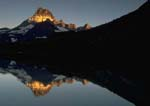 MOUNT WILBUR AT SUNRISE, Swiftcurrent Lake, reflection